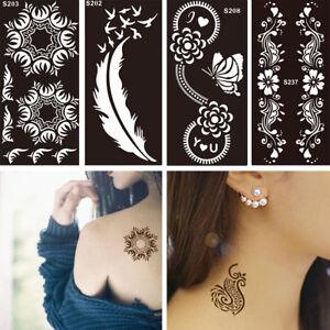57 Styles Temporary Glitter Tattoo Stencils Template Body Art