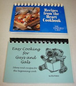 2-Pampered-Chef-Cookbooks-From-the-Heart-amp-Easy-Cooking-for-Guys-amp-Gals