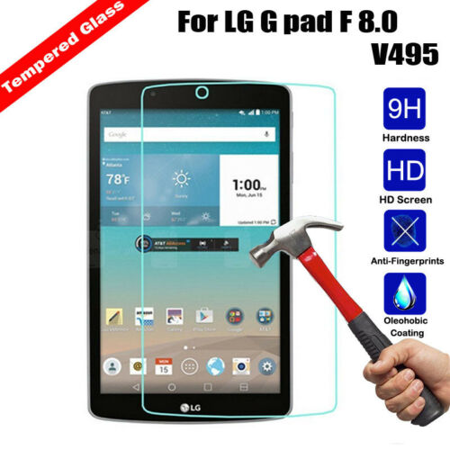 New Premium Real Tempered Glass Film Screen Protector For LG G pad f 8.0 V495
