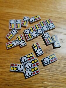 20 x LEGO GREY PRINTED CAR LORRY CONTROL PANEL FLAT PLATE  1x2 PART No 3069