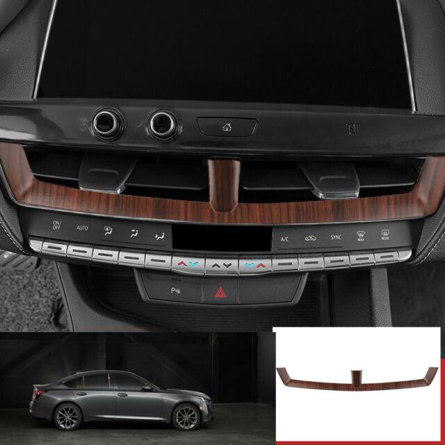 For Cadillac Ct5 2019-2020 Peach Wood Grain Console Air
