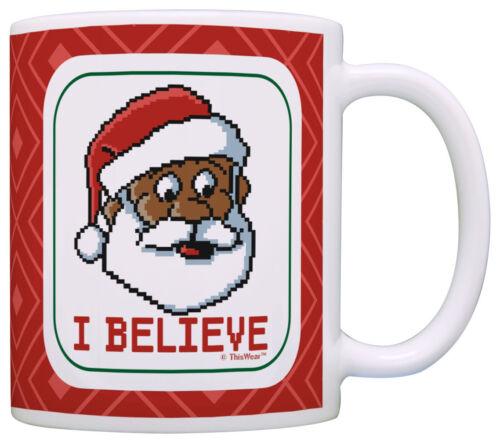 Black Santa Ugly Christmas Sweater Themed Mug Funny Secret Coffee Mug Tea Cup