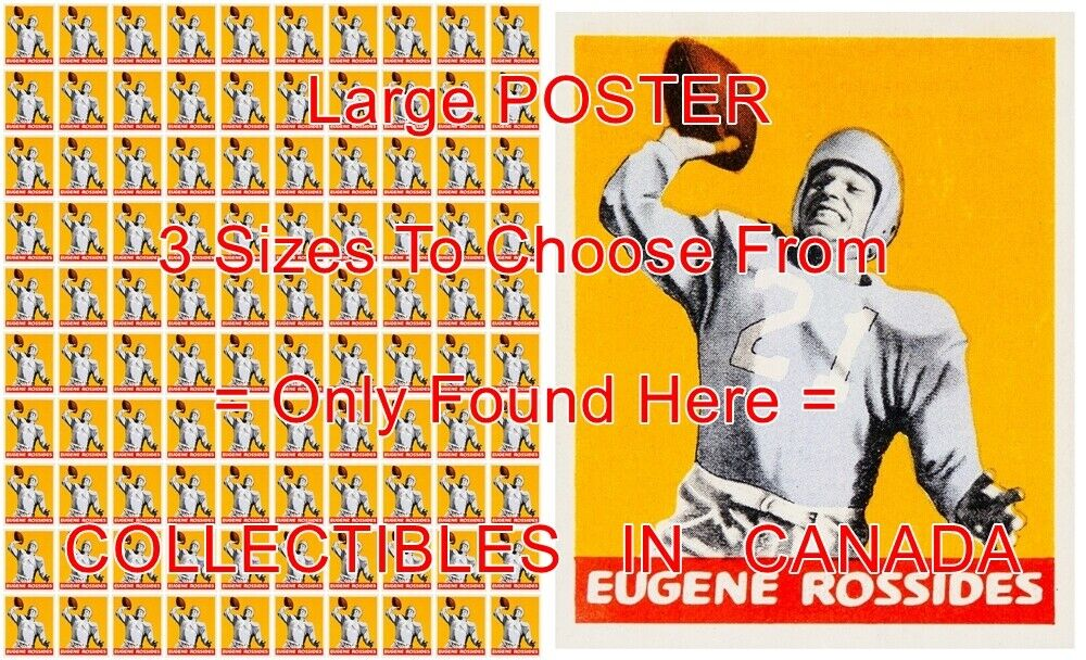 EUGENE ROSSIDES 1948 Columbia = POSTER Not Football Card 3 GrößeS 2.5 - 4 Feet