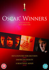 NO COUNTRY FOR OLD MEN / A BEAUTIFUL MIND / AMERICAN BEAUTY - DVD - REGION 2 UK