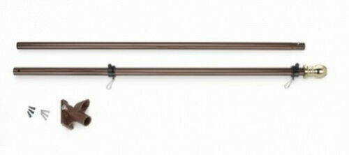6 FT Valley Forge Flagpole Never Furl Spinning Rings /& Optional US American Flag