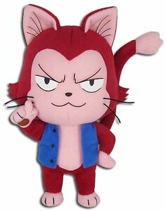 "NEW Great Eastern GE-52935 Fairy Tail 8"" Lector Exceed Red Cat Stuffed Plush"