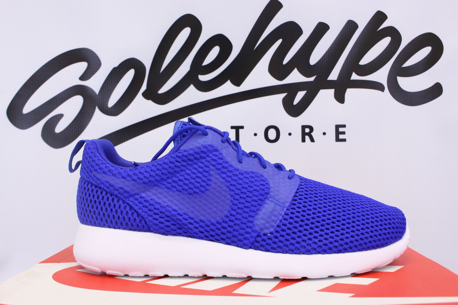 cheap for discount 3a669 2e366 NIKE ROSHE ONE ONE ONE HYPERFUSE HYP BR RACER BLUE WHITE 833125 401 SZ 9  13a907
