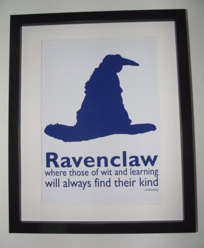 Harry Potter Inspired Sorting Hat Poster A4 Art Print Ravenclaw Picture
