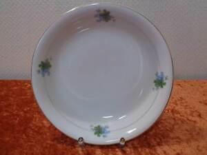 Antiguo-Estilo-Moderno-Porcelana-Cuenco-Vintage-Um-1900-Trebol-Nomeolvides