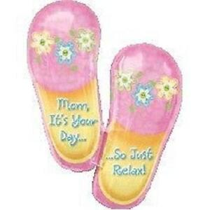 MOTHERS-DAY-BIRTHDAY-33-BALLOON-SLIPPERS-RELAX-ITS-YOUR-DAY-MOM-FREE-RIBBON