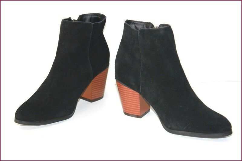 KIABI Boots Booties Nubuck Black T 37 MINT