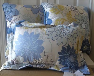 NWT Winston Thomas Blue White Green Sequin Floral Decorative Pillow 18x18 12x 18