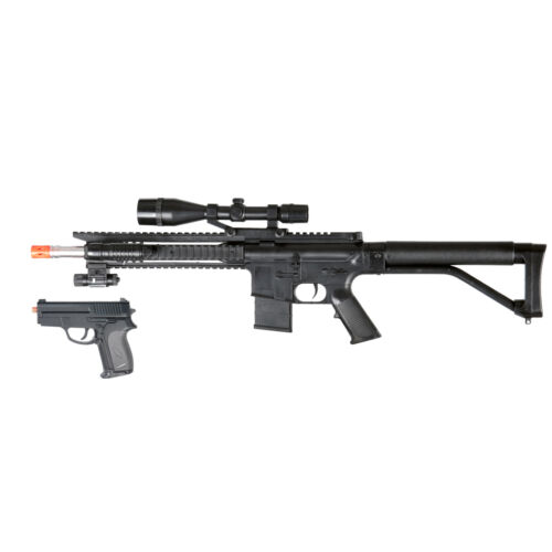 Toy Gun Airsoft Spring Special Ops Rifle 300 FPS Sniper Scope Laser Pistol P1137