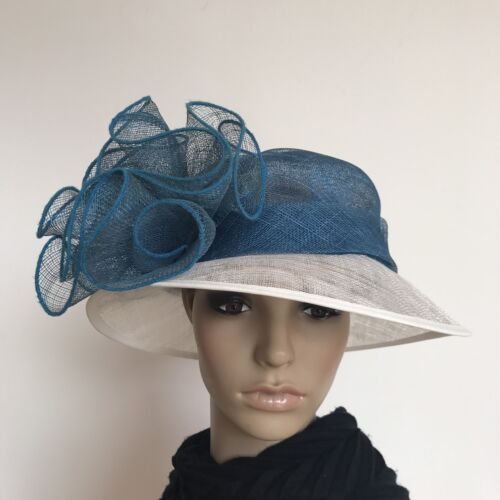 Ladies Floral Elegant Organza Formal Race Wedding Melbourne Cup Hat H391