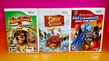 Madagascar 2, Open Season, Megamind -  Nintendo Wii 3 Games Dreamworks Disney