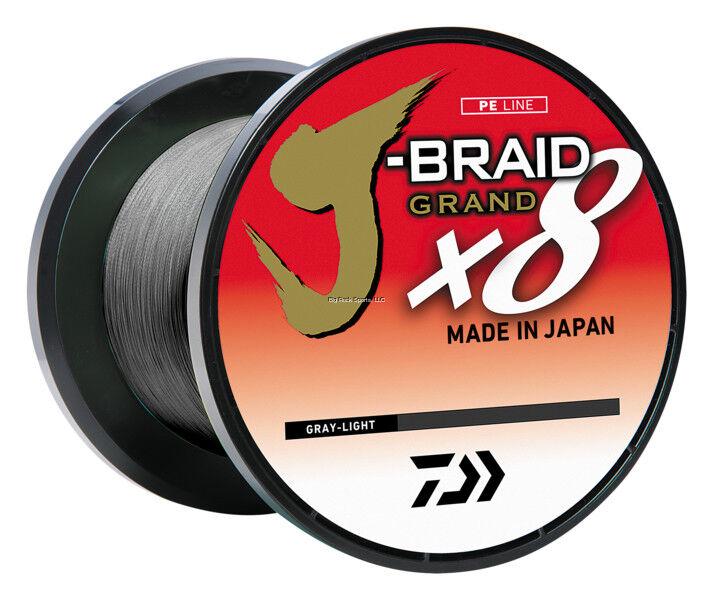 Nuevo Daiwa J-Trenza Grand 8X 40lb 3,000YDS gris  Cocherete a granel Luz jbgd 8U40-3000GL  tomar hasta un 70% de descuento