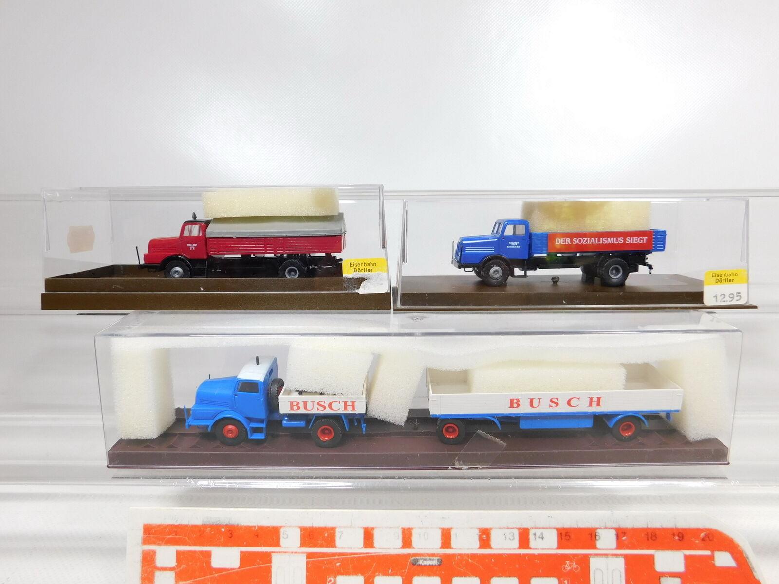 CA331-0,5 x Brekina 1 87   H0 Camión Ifa   71013 Busch + 7103 Dr + 7102 VEB