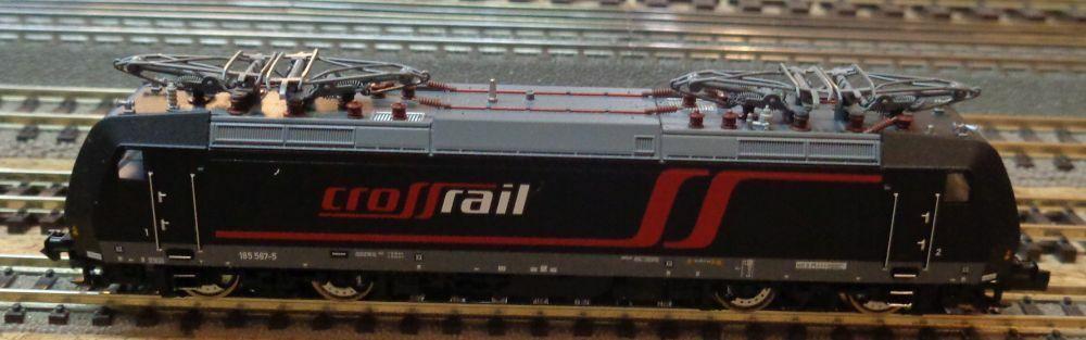 Fleischmann N 877385 E-Lok BR 185 MRCE  CrossRail CrossRail CrossRail   Ep.V  NEU & OVP  | Tragen-wider  a84414