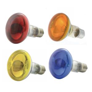 60W R80 Coloured Reflector Dimmable Disco Spot Light Bulbs ES E27 Screw Lamps