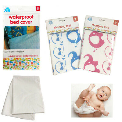 Baby Toddler Nappy Changing Mat Wipe Clean Waterproof Travel Foldable Pink Blue