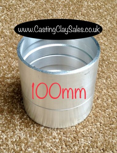 Quality 100mm Interlocking Flask Delft Style Casting Clay Sand Rings Silver
