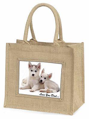 Siberian Husky 'Liebe dich Papa' Große Natürliche Jute-einkaufstasche Chris,