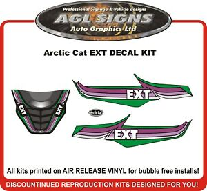 Snowmobile Decals & Stickers Snowmobile Parts in Motors 1970 ARCTIC CAT PANTHER 340 EXT DECALS GRAPHICS