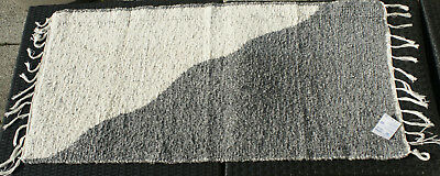 """Badteppich Gewebt """"halb/halb"""" Natur/grau 135 X 65 Cm Teppich Waschbar Teppich Teppiche Vorleger & Matten"""