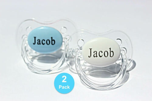 ORTHODONTIC STYLE* MORE COLOURS PERSONALISED DUMMY 2 PACK *CHERRY SYMMETRICAL