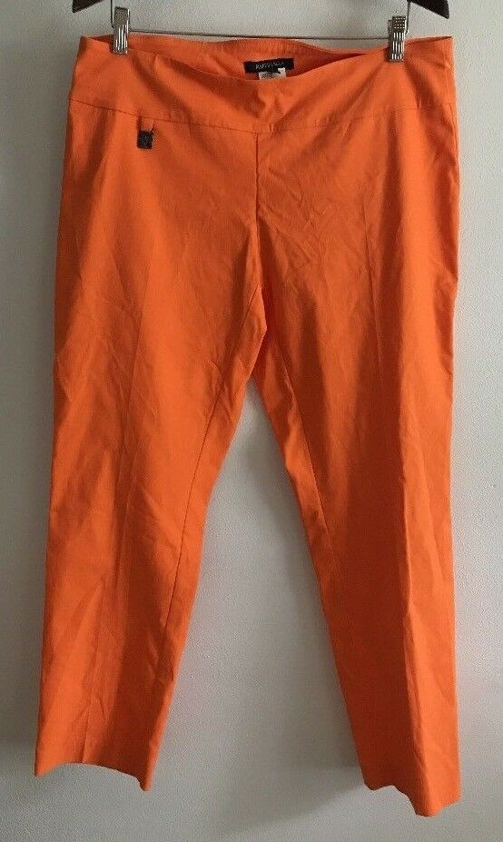 Raffinalla Slim Leg Pants Womens Size 16 orange Stretch Comfort