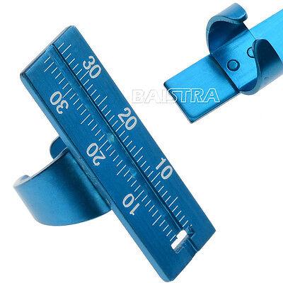 Endodontic Dental Finger Ruler Aluminium Instrument Span Measure Scale Blue GOOD
