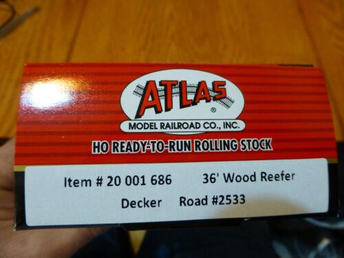 Atlas HO #20001686 Decker 36/' Wood Reefer D.M.R.L Rd #2533