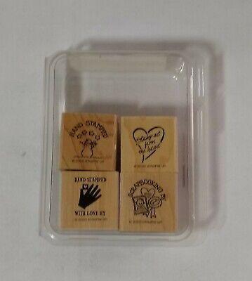 Vintage Retired Love Melts Winter Saying Rubber Stamp