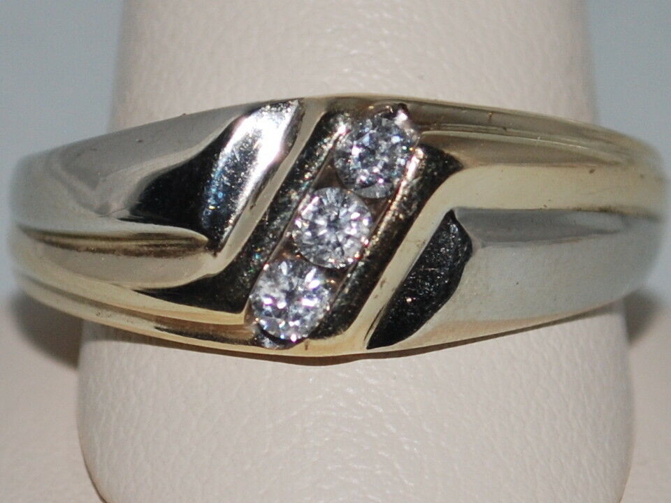 10k gold Ring with Diamonds(men's)