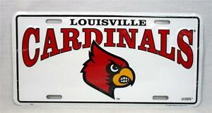 University of Louisville Cardinals Logo Car Truck Tag License Plate Game Decor