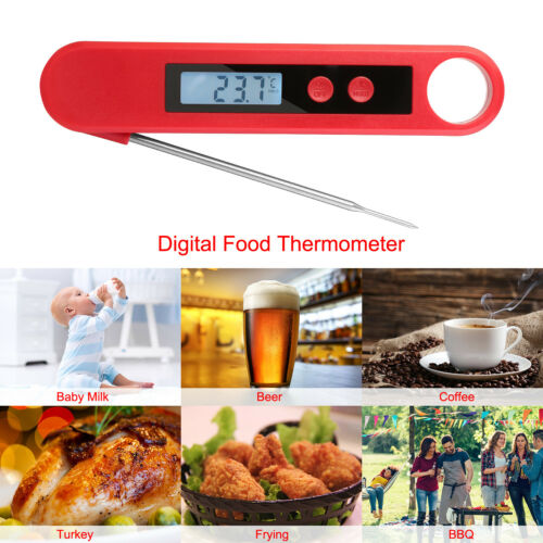 Instant Read Digital Food Meat Thermometer for Kitchen Cooking BBQ Grill Smoker