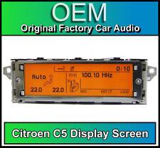 CITROEN C5 schermo di visualizzazione, Radio RD4 LCD Multi Funzione Orologio Dash