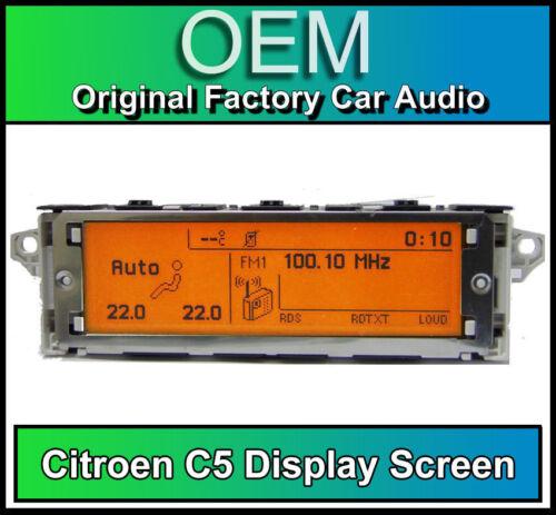 Citroen C5 display screen RD4 radio LCD Multi function clock dash