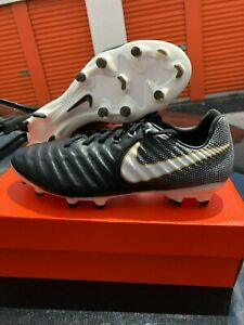 big sale 322b2 6d4cf Details about Nike Tiempo Legacy III FG 897748 002 Soccer Cleats Black  White Size 6.5,9.5