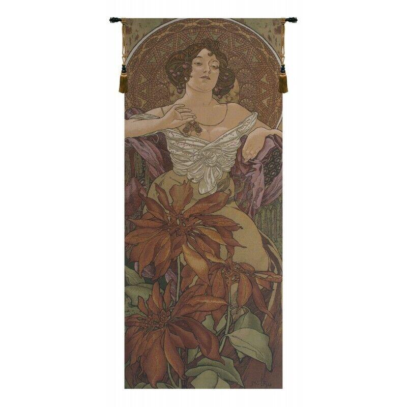 Mucha Rubis Belgian Tapestry Wall Hanging