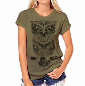 Moda-Mujeres-Mangas-Cortas-Camiseta-Camisas-Prendas-para-el-torso-Blusa-Informal-Camiseta-para-mujer