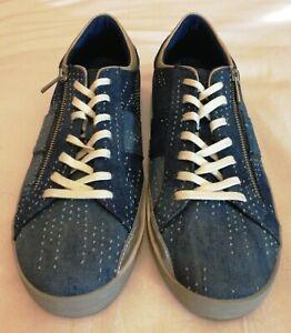 Aldo-Mens-Denim-Zipper-Lace-up-Casual-Sneakers-Blue-Size-uk-11-eu-45