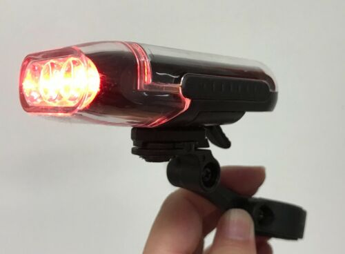 Solar Powered Red LED Bike Bicycle Rear Tail Light PL-SLMR