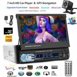 Autoradio MIT Rückfahrkamera GPS NAVIGATION 7 ZOLL TOUCH MP3 FM USB SD AUX 1DIN