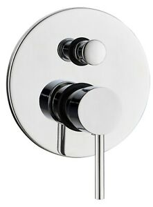 Modern Bathroom Shower Mixer Valve Only Brass Various Styles Chrome Concealed
