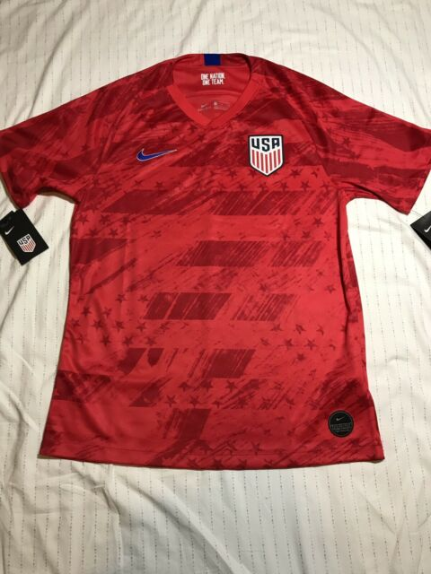 the latest 916a5 c88a9 USMNT Nike 2019 Away DRI-FIT Stadium Jersey USA Soccer - Red Men's LARGE (L)