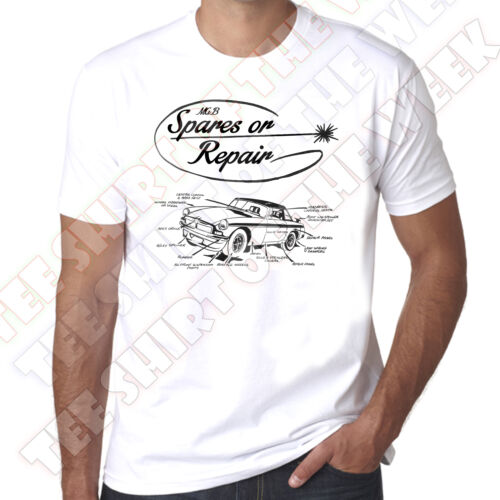 Mgb pièces de rechange ou réparation rétro vintage style pour homme 100/% t-shirt en coton