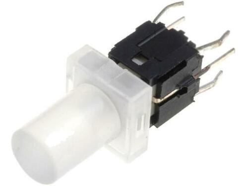 PB6149L-5 Microswitch 1 posiciones SPST-NO 0.05A/12VDC THT LED blanco altamente