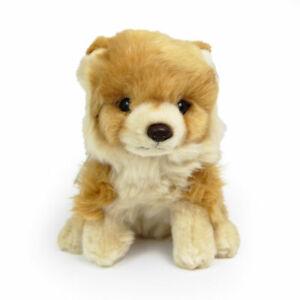 Stofftier Pomeranian, sitzend, Hund, Plüschtier (H. ca. 17 cm) Zwergspitz