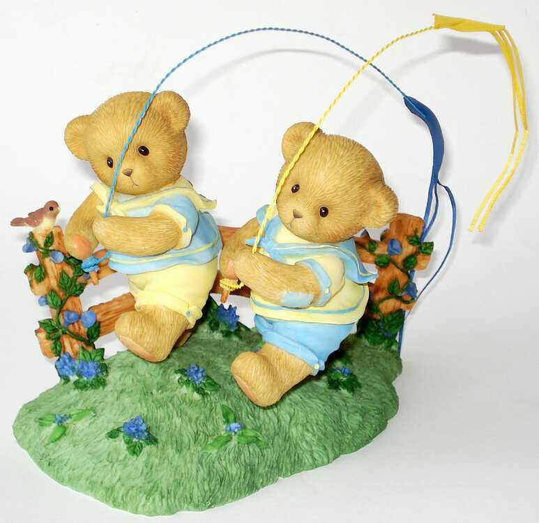 Cherished Teddies SHANE and SEAN - Add Some Fun To Every Day - SIGNIERT